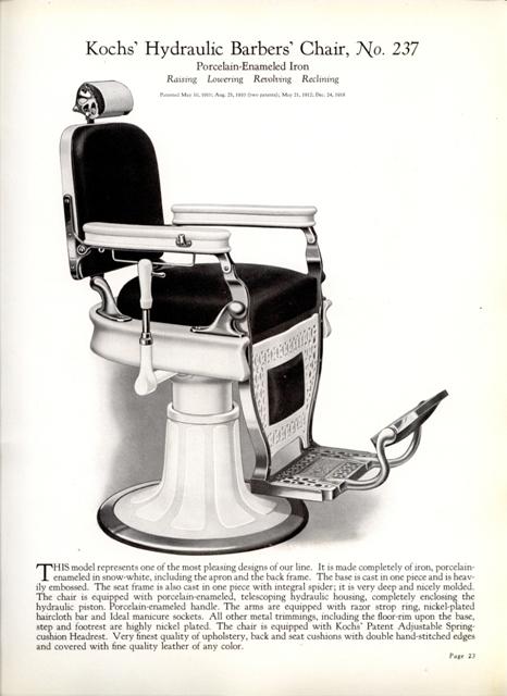 Barber Shop Furniture : ... 1926 Koch Barber Shop Catalog #39 - Barber Chairs, Furniture & more
